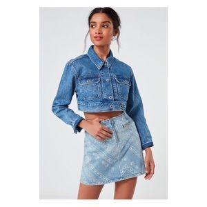 UO Modern Zipper Denim Skirt